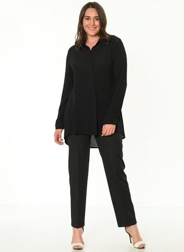 Selen Uzun Kollu Gömlek Bluz Siyah